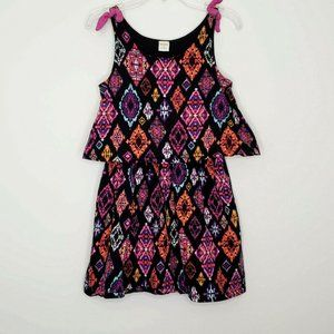 Gymboree Girls Black Multi Color Sleeveless Dress